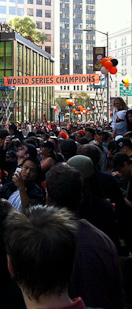 Crowd for the SF Giants