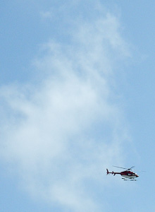 Heliocopter with a clear view